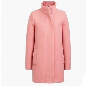 J.Crew Rose Pink Classic Wool Cocoon Coat Sz 10